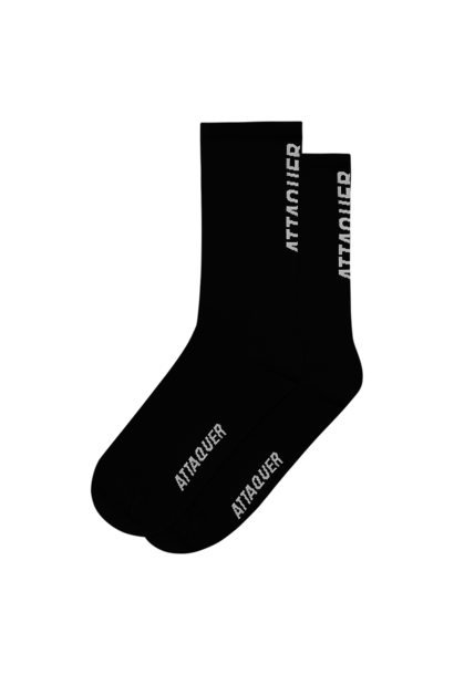 Socks Vertical Logo Black Large