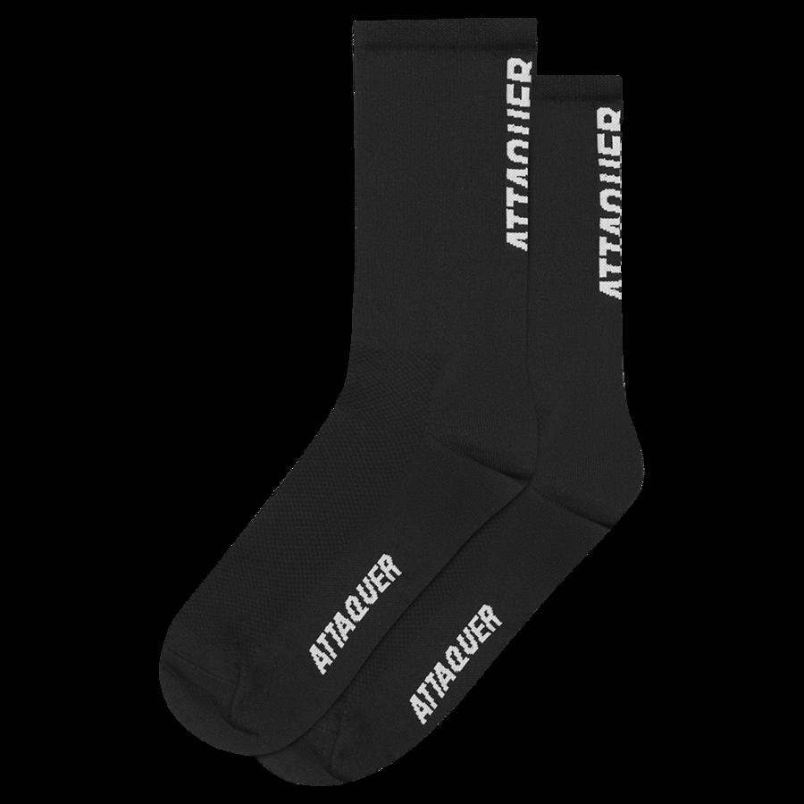 Socks Vertical Logo Black Large-1