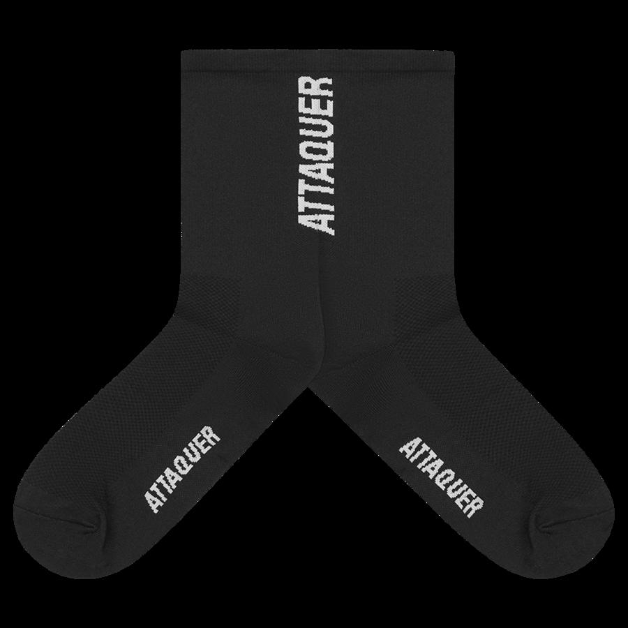 Socks Vertical Logo Black Large-2