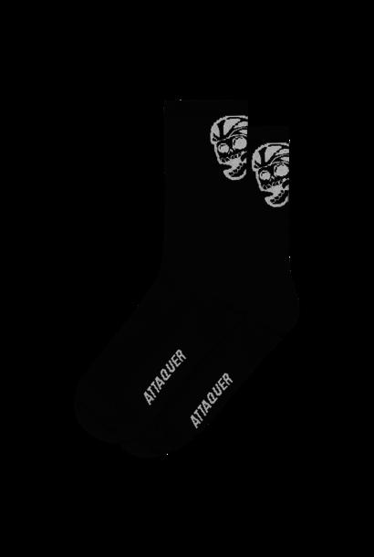 Socks Skull Logo Black Large