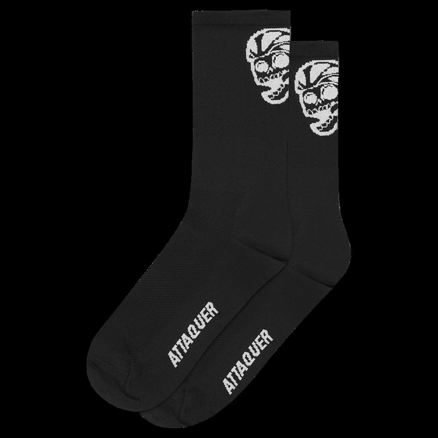 Socks Skull Logo Black Large-1