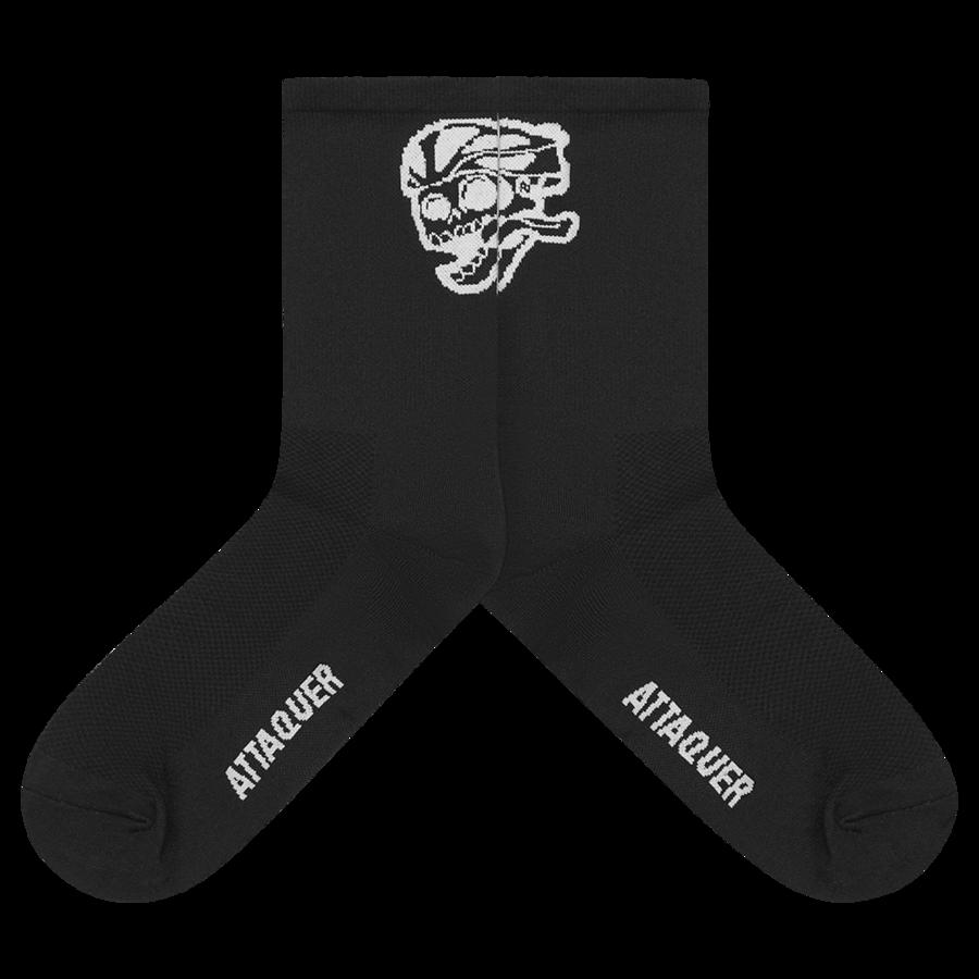 Socks Skull Logo Black Large-2