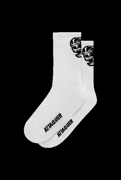 Socks Skull Logo White Large