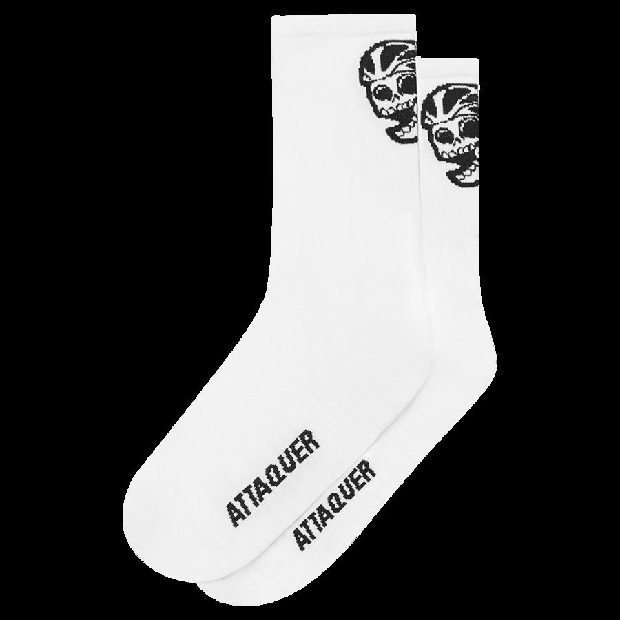 Socks Skull Logo White Large-1