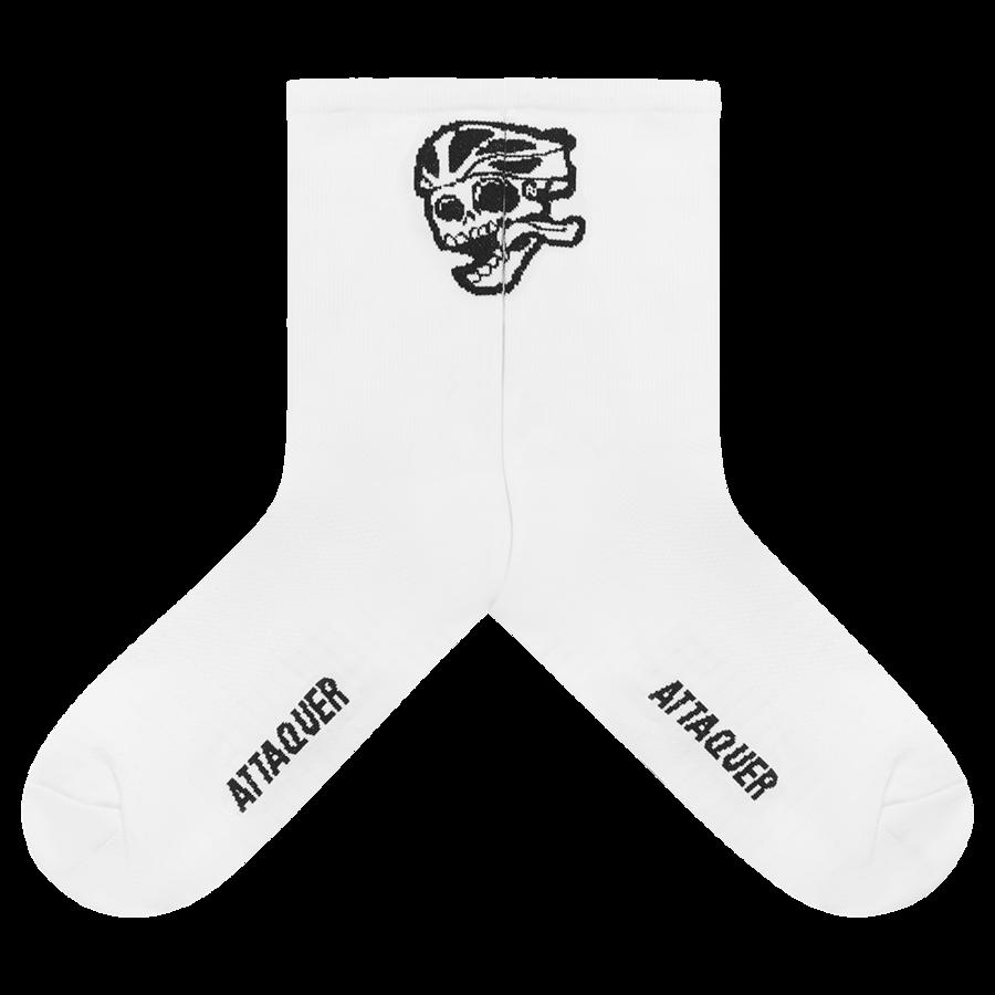 Socks Skull Logo White Large-2