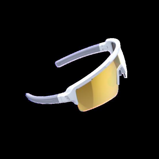 BSG-65 sportbril Fuse PC MLC oranje mat wit-1