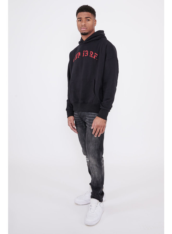 Ripped Letters Lumi3re Hoody