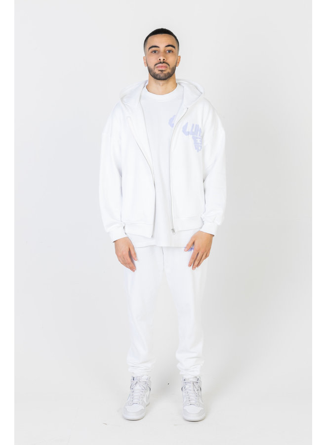 African Logo Tracksuit White