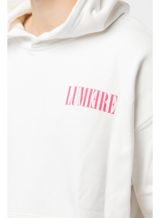 Lumi3re Small Pink Logo Hoody
