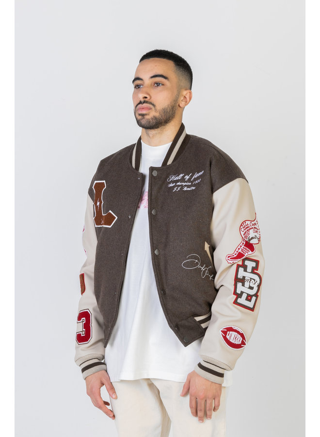 Multi-Patch College Jacket