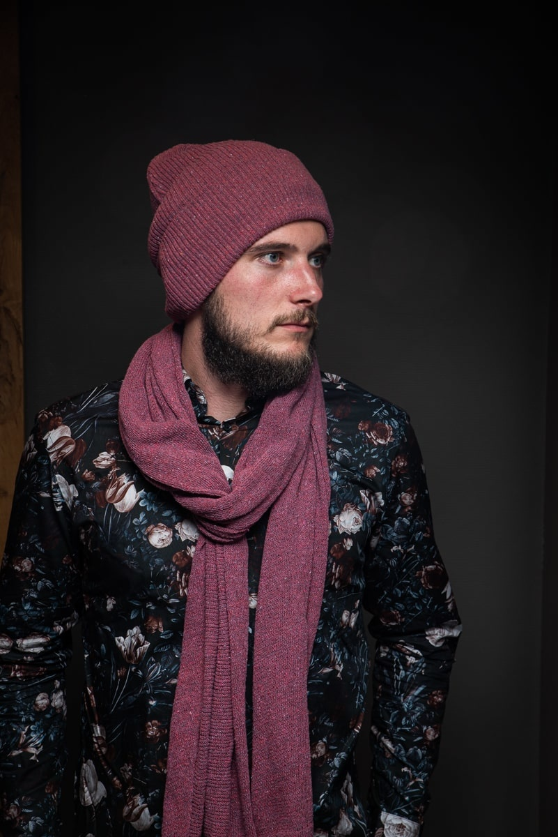 Sjaal North Ice - Carmine Red
