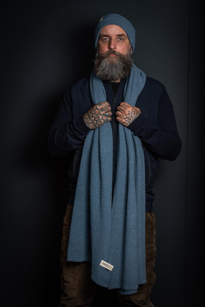 Sjaal Astana - Denim Blue