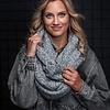 Col Sjaal Yakutsk - Light Grey Melange
