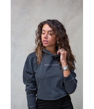 MOOST WANTED Eagle Cropped Hoodie