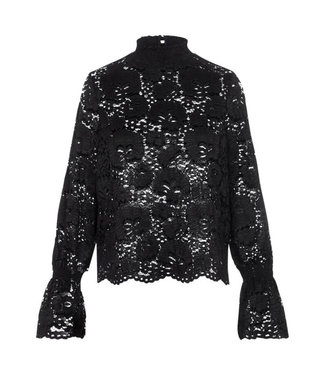 PIECES Raita lace top black