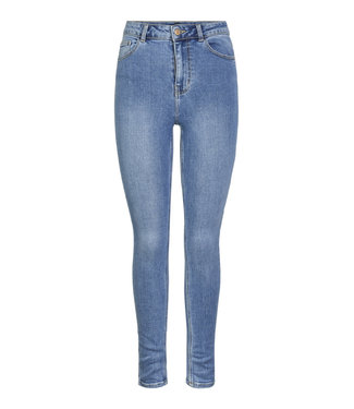PIECES Kamelia Skinny midwaist blue