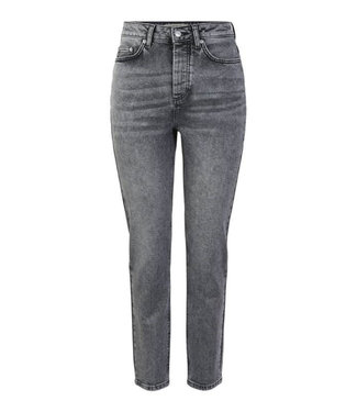 PIECES Scarlett Slim High waist jeans grijs