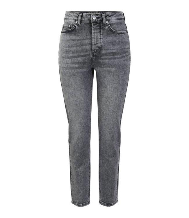 PIECES Scarlett Slim High waist jeans grijs