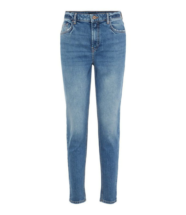 PIECES Leah mom high waist ankle jeans blue