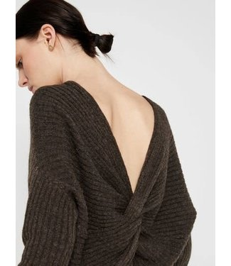 PIECES Suna Knitted Sweater Brown