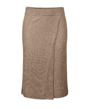 PIECES Suna High Waist Knitted Skirt Beige