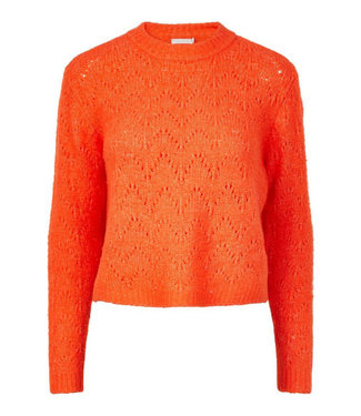 PIECES Regina Knitted Sweater - Orange