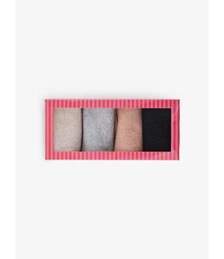 PIECES 4pack lurex glitter sokken