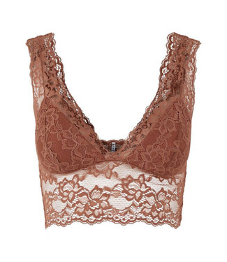PIECES Lina Lace Bralette roest
