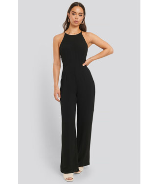 NAKD Lace back jumpsuit black