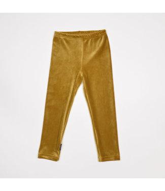 NO LABELS legging velvet gold baby