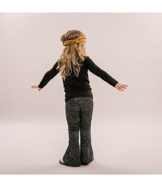 NO LABELS leopard flared pants