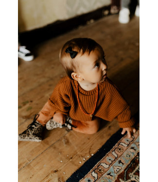 Little Lo Loose knitted sweat rust