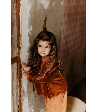 Little Lo Oversized top velours rust