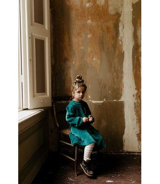 Little Lo Dream dress velours greeen