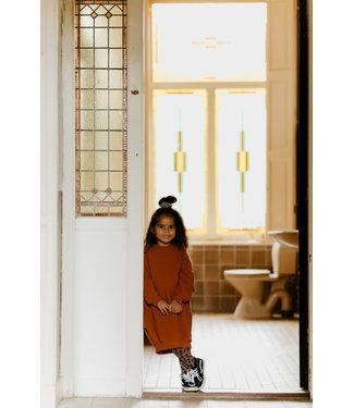 Little Lo Little lo sweater dress roest maat 110/116