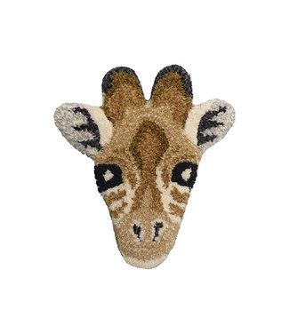 DOING GOODS Gimpy Giraffe Head Rug