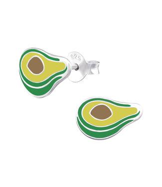 PRECIOUS JEWEL Kinder oorbellen - avocado