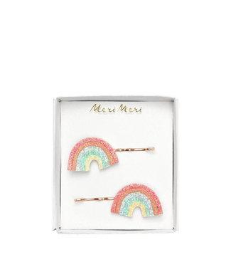 MERI MERI Glitter regenboog haarspeldjes