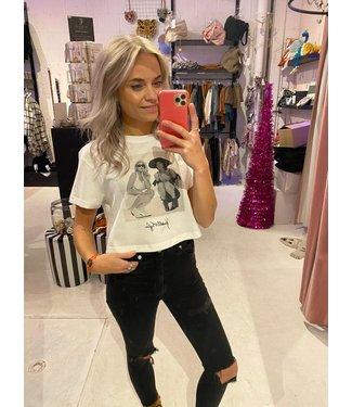 Kendall & Kylie Photoprint shirt offwhite