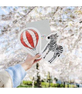 The Giftlabel Kaart Zebra