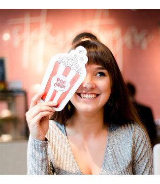 The Giftlabel Kaart Popcorn