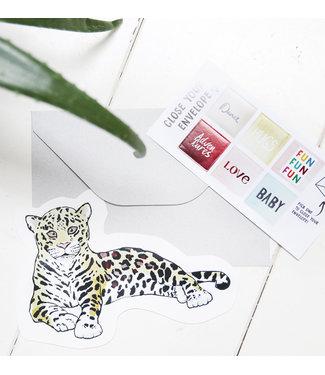 The Giftlabel Kaart Leopard