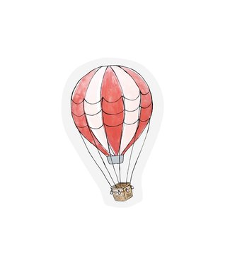 The Giftlabel Kaart Hot Air Balloon