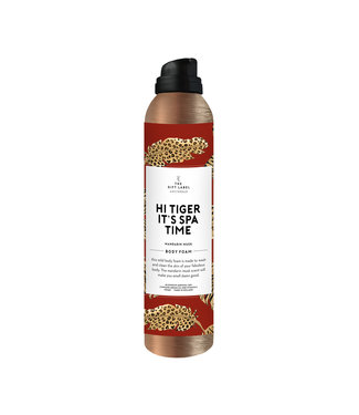 The Giftlabel Body Foam - Hi Tiger It's Spa Time