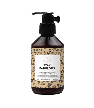 The Giftlabel Hand lotion - Stay Fabulous