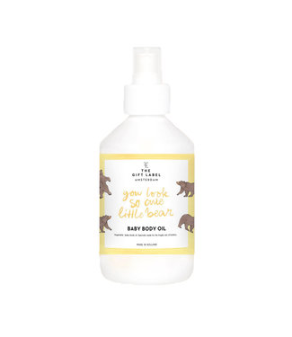The Giftlabel Baby body oil - You Look So Cute Little Bear