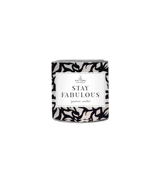 The Giftlabel Candle In Tin Small - Stay Fabulous