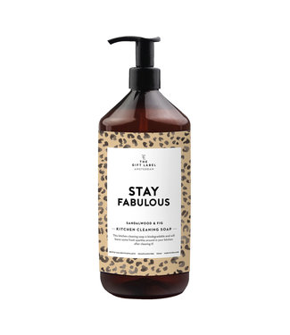 The Giftlabel Kitchen Cleaning Soap - Stay Fabulous
