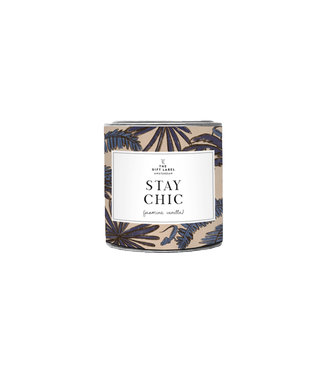 The Giftlabel Candle In Tin Big - Stay Chic