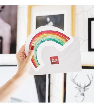 The Giftlabel Kaart Rainbow